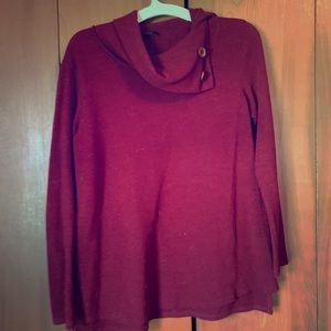The Pink Lilly Fall Sweater: Burgundy